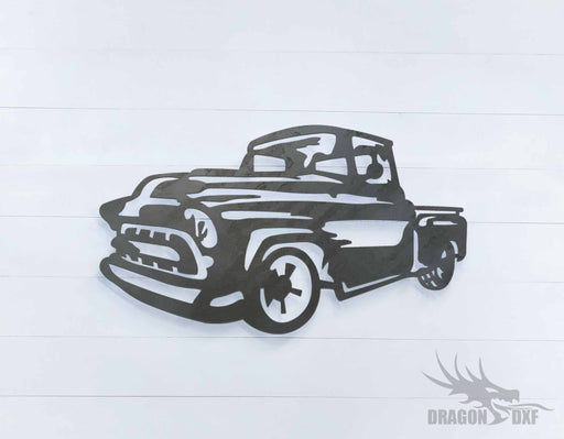 1957 chevrolet pickup truck 5 - DXF Download