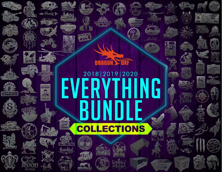 Everything 2018-2019-2020 Bundle - 2600+ Designs - DXF Download