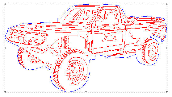 Ford Ranger Offroad pickup truck - DXF Download