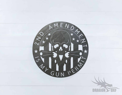 2nd amendment sign 22 - DXF Download
