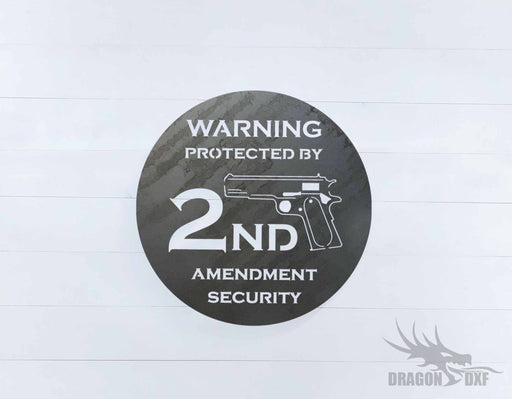 2nd amendment sign 23 - DXF Download