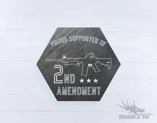 2nd amendment sign 24 - DXF Download