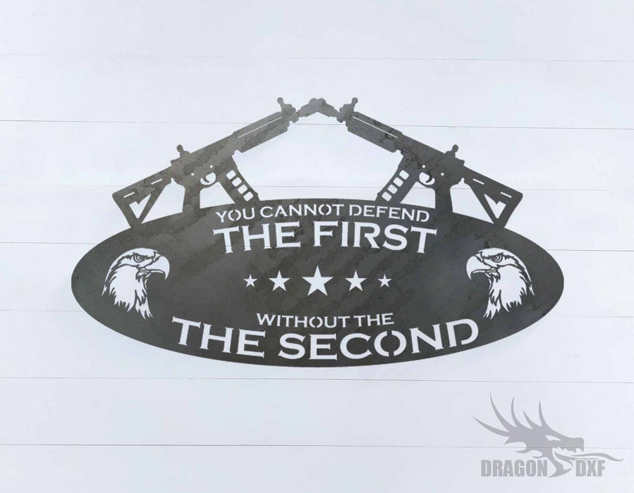 2nd amendment sign 25 - DXF Download