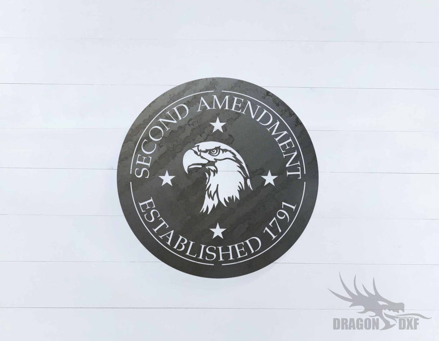 2nd amendment sign 26 - DXF Download