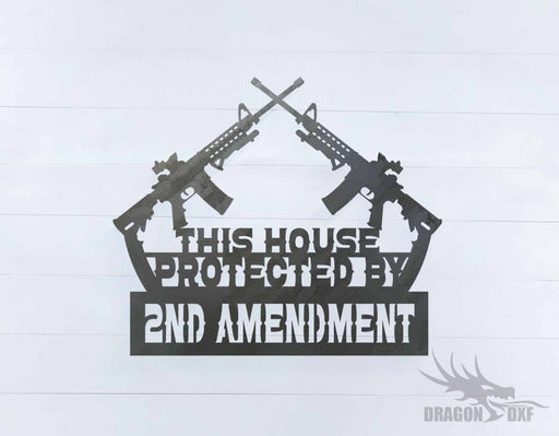 2nd amendment sign 27 - DXF Download