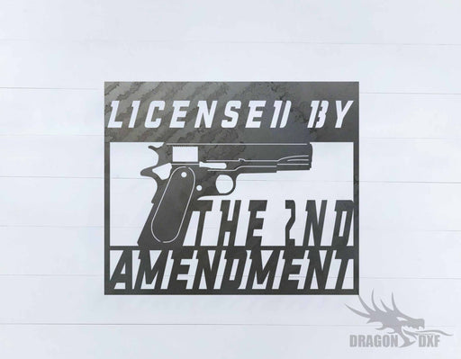 2nd amendment sign 28 - DXF Download