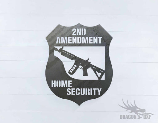 2nd amendment sign 29 - DXF Download