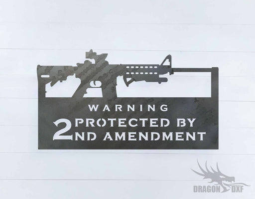 2nd amendment sign 30 - DXF Download