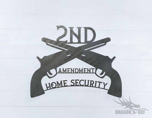 2nd amendment sign 31 - DXF Download