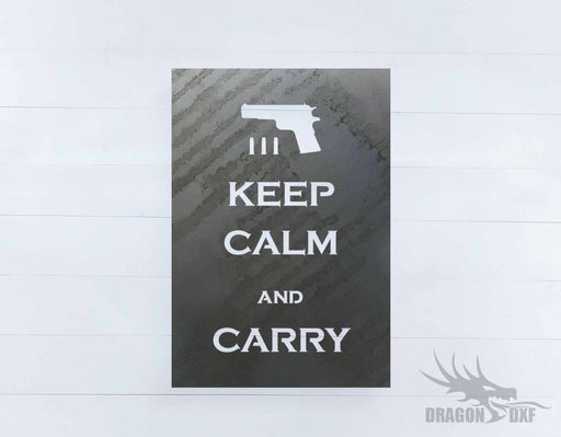 2nd amendment sign 32 - DXF Download