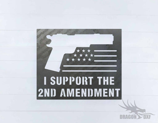 2nd amendment sign 33 - DXF Download