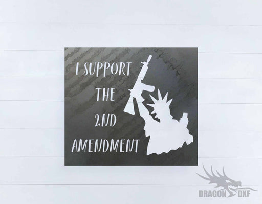 2nd amendment sign 34 - DXF Download