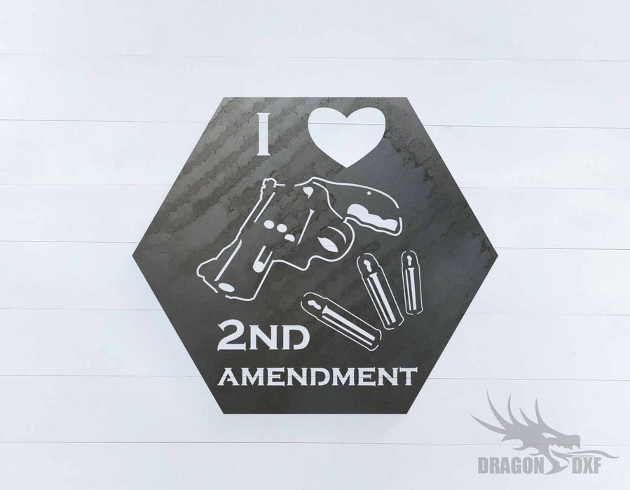 2nd amendment sign 37 - DXF Download