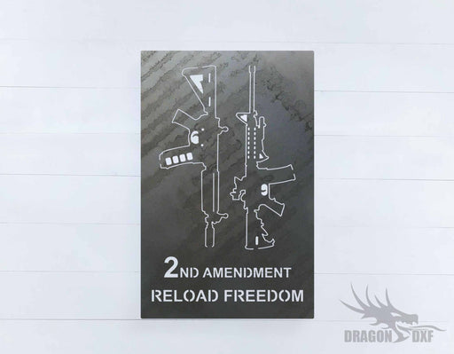 2nd amendment sign 38 - DXF Download