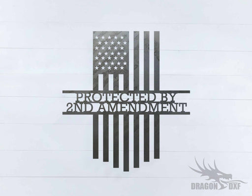 2nd amendment sign 40 - DXF Download