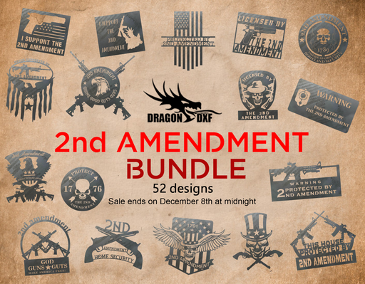 2nd Amendment Bundle - DXF Download