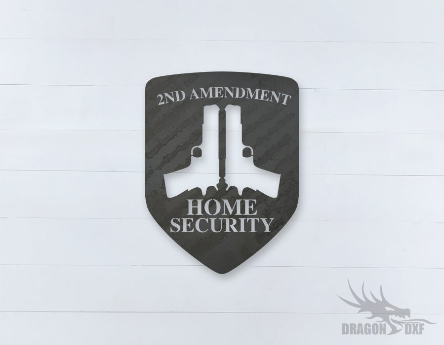 2nd amendment sign 11 - DXF Download