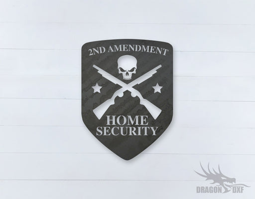 2nd amendment sign 12 - DXF Download