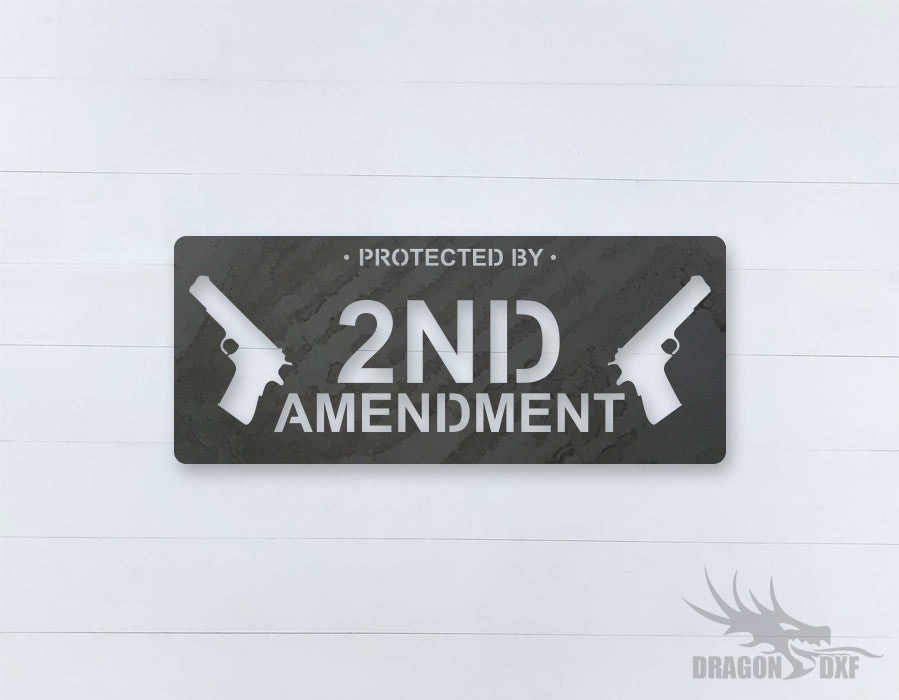 2nd amendment sign 13 - DXF Download