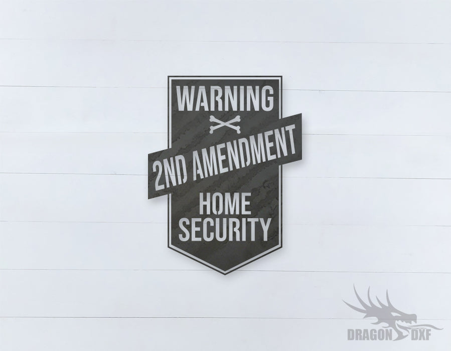 2nd amendment sign 14 - DXF Download