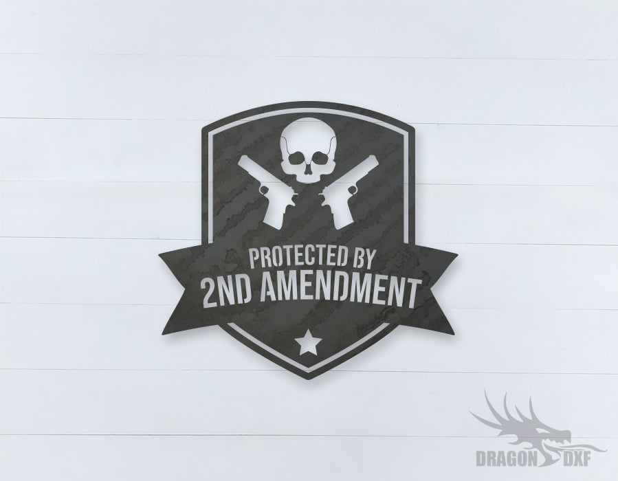 2nd amendment sign 15 - DXF Download