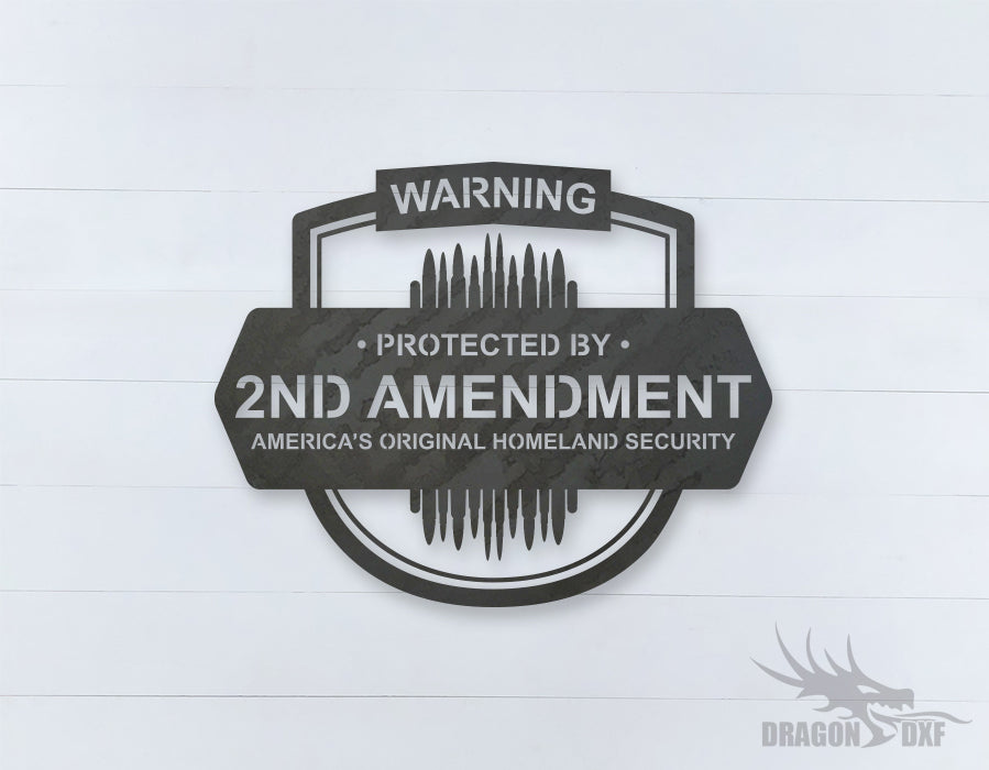 2nd amendment sign 16 - DXF Download
