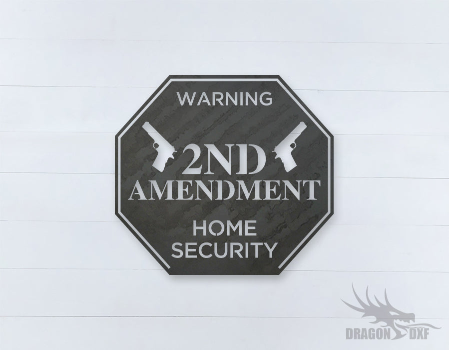 2nd amendment sign 17 - DXF Download