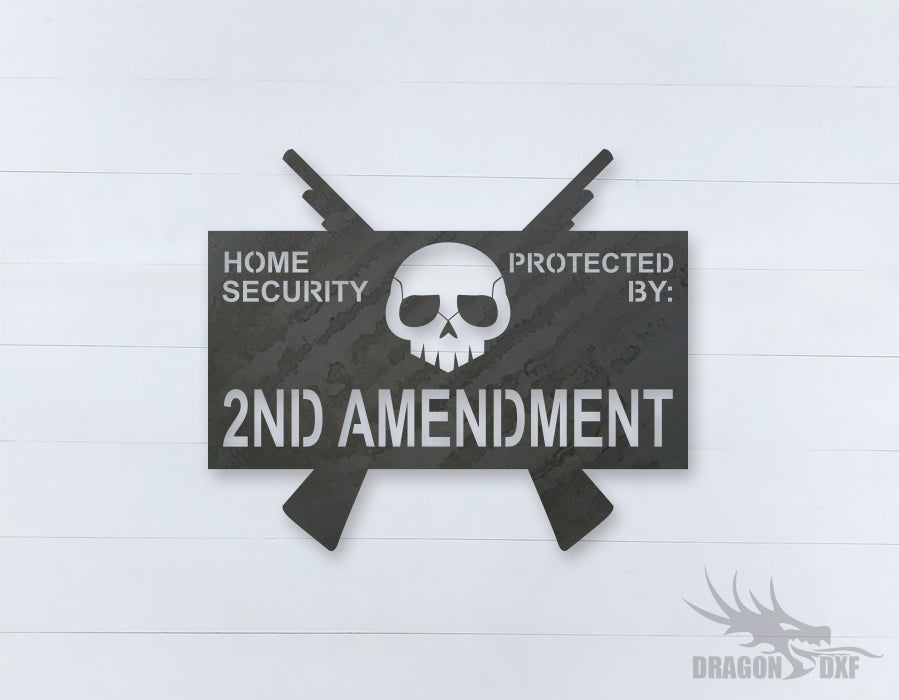 2nd amendment sign 18 - DXF Download