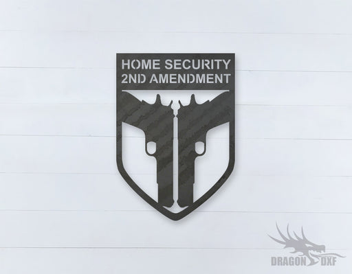 2nd amendment sign 19 - DXF Download