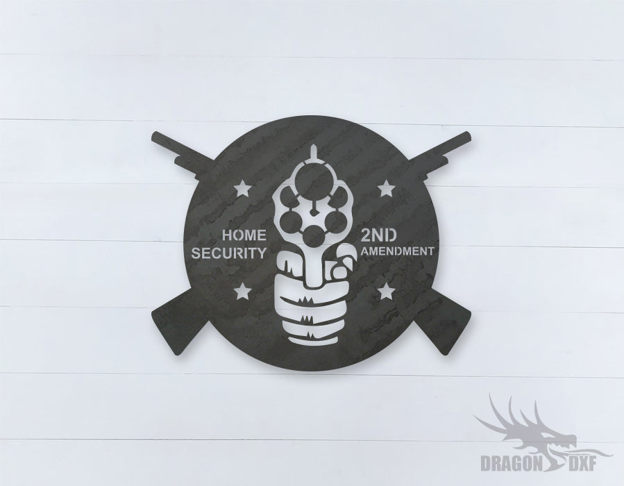 2nd amendment sign 20 - DXF Download