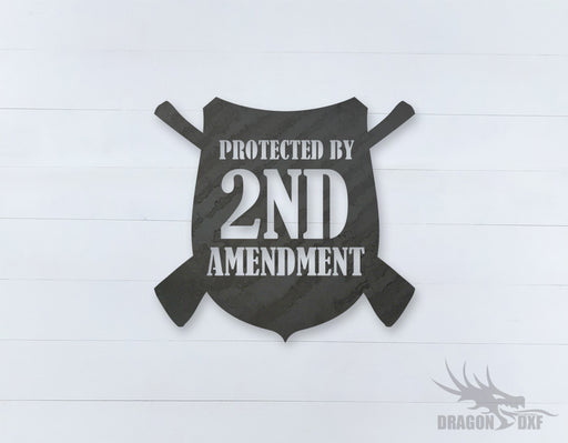 2nd amendment sign 2 - DXF Download