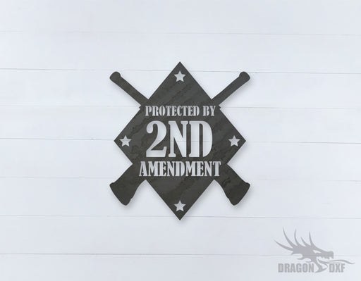 2nd amendment sign 3 - DXF Download