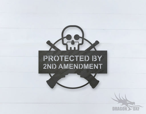 2nd amendment sign 4 - DXF Download