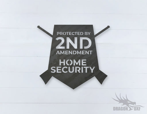 2nd amendment sign 5 - DXF Download