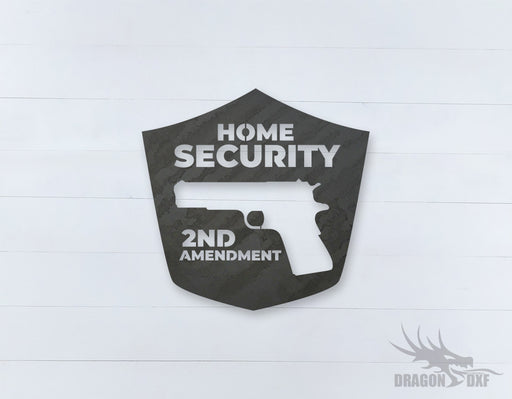 2nd amendment sign 7 - DXF Download