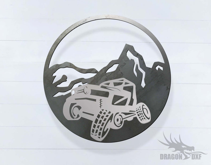 Jeep Rock Climber Rubicon 4 x 4 - 2 Layer Sign - DXF Download