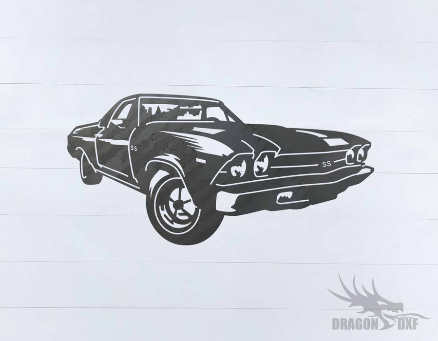 69 El Camino Design 1 -  DXF Download