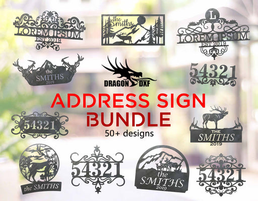 Address Sign Bundle - DXF Download