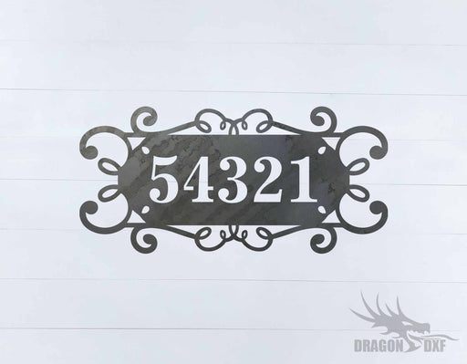 Custom House Number 2 - DXF Download