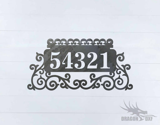 Custom House Number 4 - DXF Download