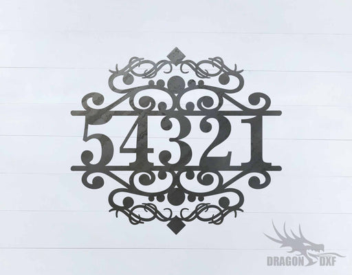 Custom House Number 5 - DXF Download