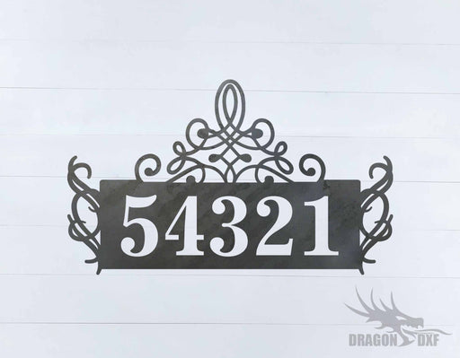 Custom House Number 7 - DXF Download