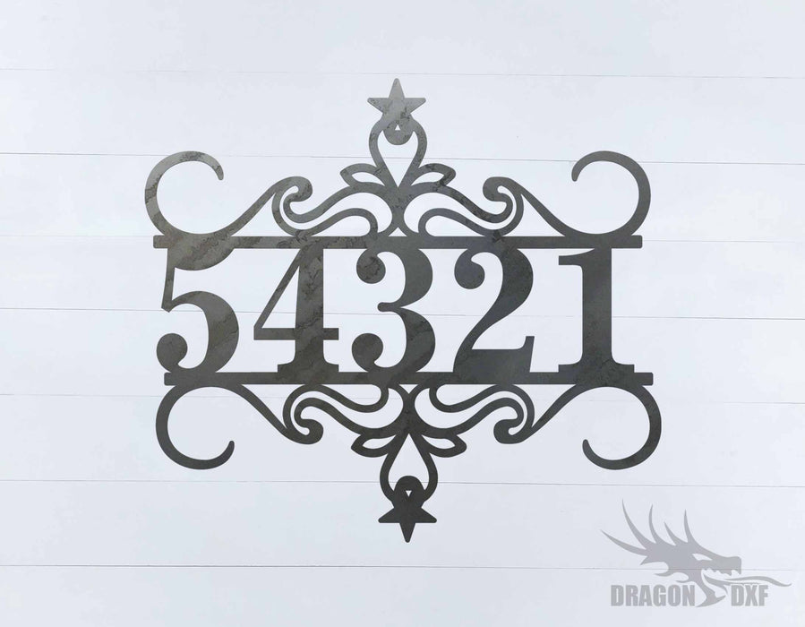 Custom House Number 8 - DXF Download