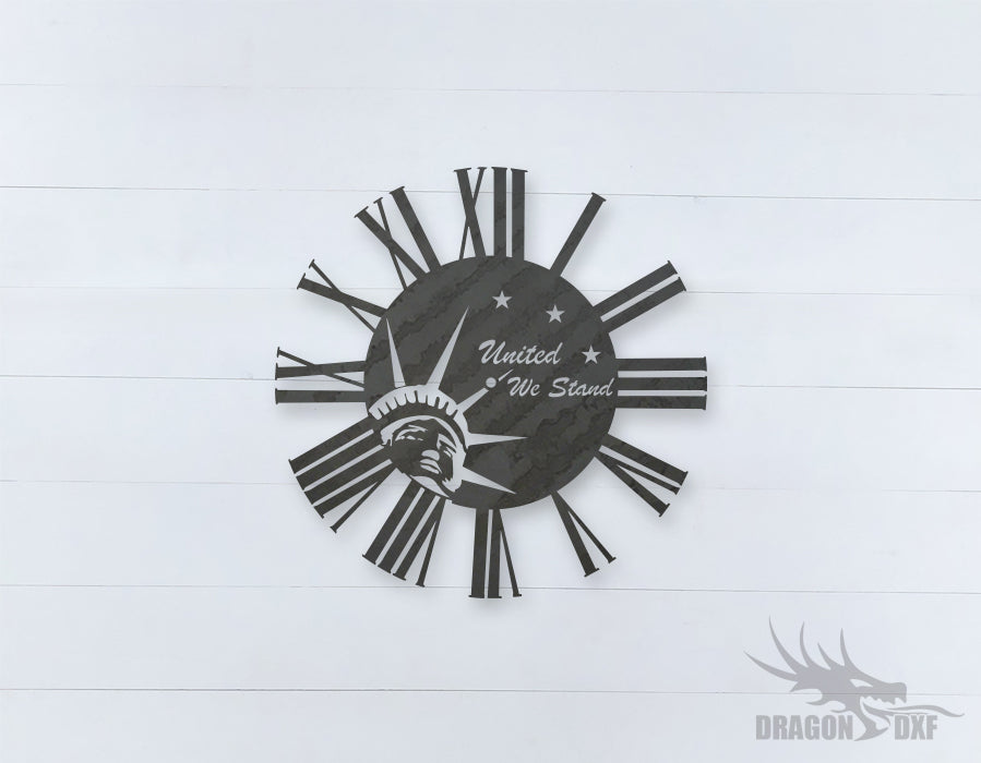 American Clock Design 5  - DXF Download