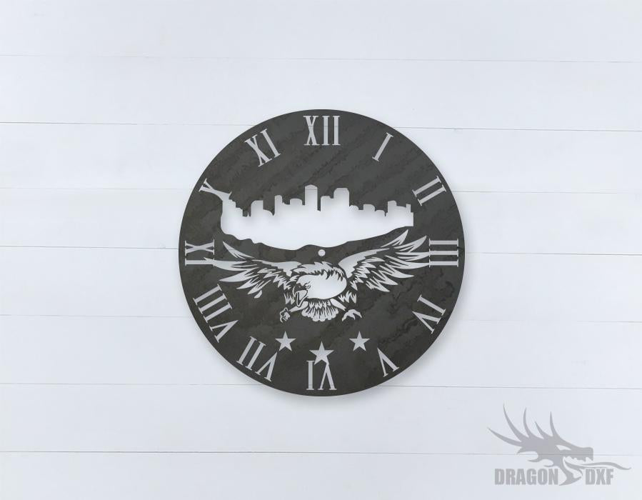American Clock Design 7  - DXF Download