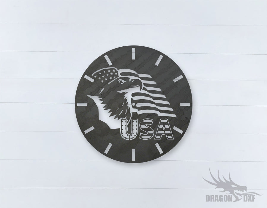 American Clock Design 8  - DXF Download