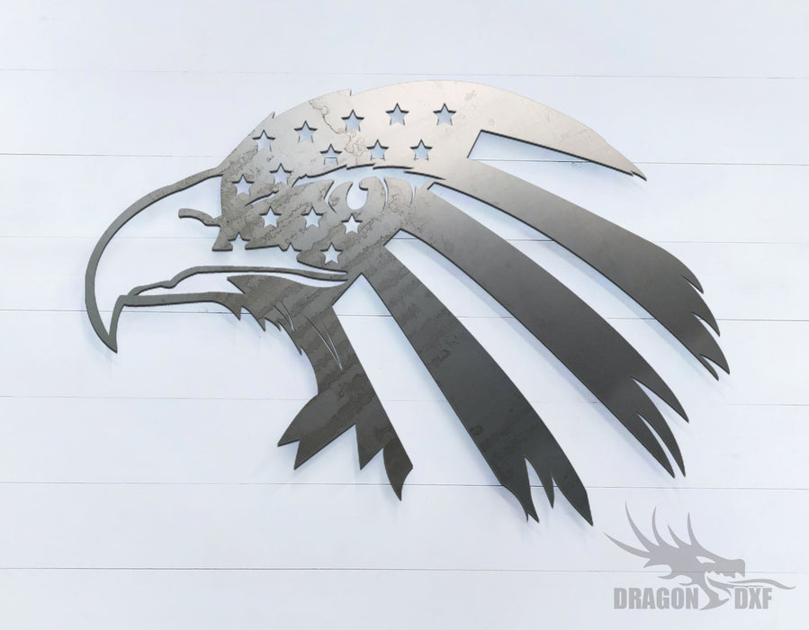 American Flag Eagle - DXF Download