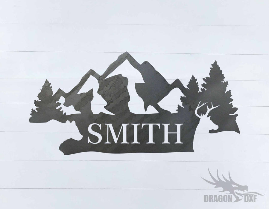Animal Address Sign 14 - DXF Download