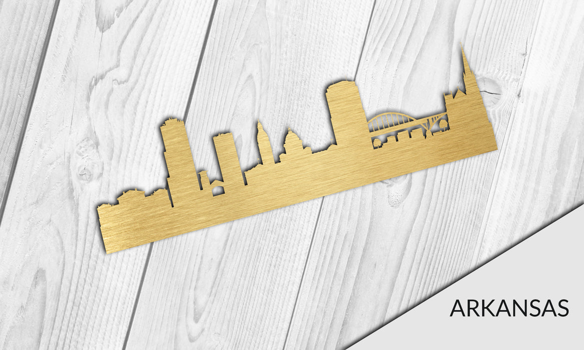 ARKANSAS Cityscape - Downtown Little Rock Silhouette - DXF Download