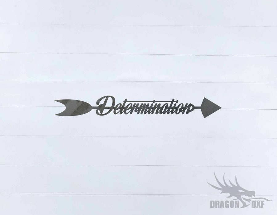 Arrow Design - Determination - DXF Download